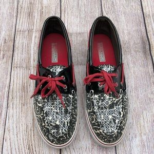 Sperry Top-Sider | Sequin Shoe | Black, White, Red
